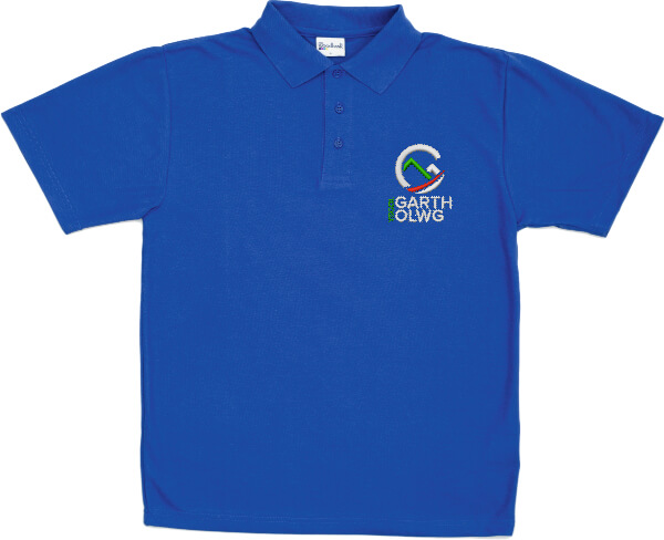 Garth Olwg Middle School Royal Blue Polo